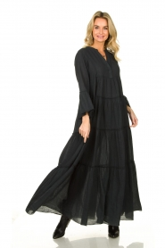 Devotion |  Cotton maxi dress Rochella | black  | Picture 2