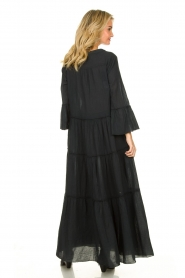 Devotion |  Cotton maxi dress Rochella | black  | Picture 5