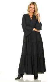 Devotion |  Cotton maxi dress Rochella | black  | Picture 3