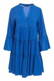 Devotion |  Cotton dress with ruffles Rosaline | blue  | Picture 1
