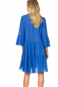 Devotion |  Cotton dress with ruffles Rosaline | blue  | Picture 8