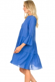 Devotion |  Cotton dress with ruffles Rosaline | blue  | Picture 7