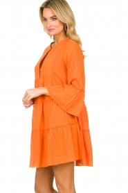 Devotion |  Cotton dress Rosaline | orange  | Picture 6