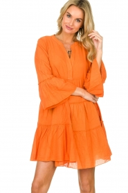 Devotion |  Cotton dress Rosaline | orange  | Picture 5