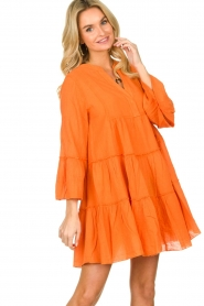 Devotion |  Cotton dress Rosaline | orange  | Picture 4