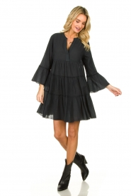 Devotion |  Cotton dress Rosaline | black  | Picture 3