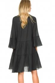 Devotion |  Cotton dress with ruffles Rosaline | black  | Picture 6