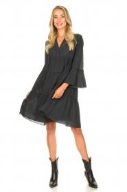 Devotion |  Cotton dress with ruffles Rosaline | black  | Picture 3
