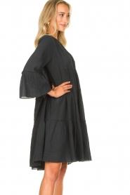 Devotion |  Cotton dress with ruffles Rosaline | black  | Picture 5