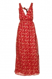 Sundress |  Cotton lurex maxi dress Hailey | red  | Picture 1