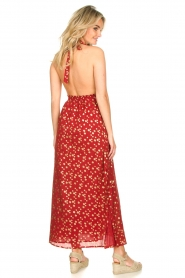 Sundress |  Cotton lurex maxi dress Hailey | red  | Picture 5