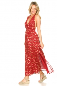 Sundress |  Cotton lurex maxi dress Hailey | red  | Picture 4