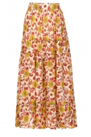 Sundress | Maxi rok met print Ruby | rood  | Afbeelding 1