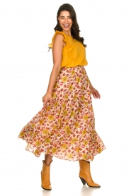 Sundress |  Maxi print skirt Ruby | red  | Picture 2