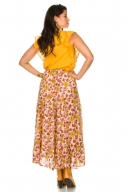 Sundress |  Maxi print skirt Ruby | red  | Picture 5