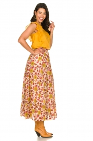 Sundress |  Maxi print skirt Ruby | red  | Picture 4