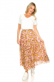 Sundress |  Maxi print skirt Ruby | red  | Picture 3