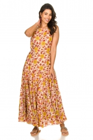 Sundress |  Printed maxi dress Neptune | pink  | Picture 2