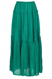 Sundress |  Maxi skirt with sequins Noa | green  | Picture 1