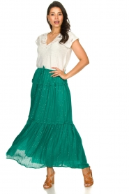 Sundress |  Maxi skirt with sequins Noa | green  | Picture 2