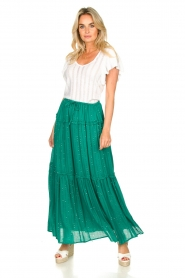 Sundress |  Maxi skirt with sequins Noa | green  | Picture 4