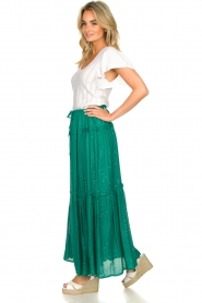 Sundress |  Maxi skirt with sequins Noa | green  | Picture 5