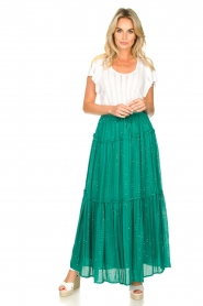 Sundress |  Maxi skirt with sequins Noa | green  | Picture 3