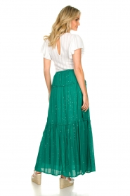 Sundress |  Maxi skirt with sequins Noa | green  | Picture 6