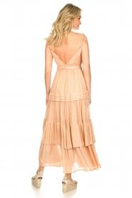 Sundress | Lurex maxi jurk Calypso | nude  | Afbeelding 6