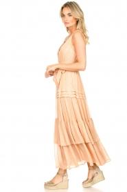 Sundress |  Lurex maxi dress Calypso | nude  | Picture 4