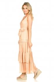 Sundress | Lurex maxi jurk Calypso | nude  | Afbeelding 5