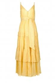 Sundress |  Lurex maxi dress Calypso | yellow  | Picture 1