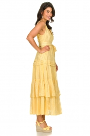 Sundress :  Lurex maxi dress Calypso | yellow - img5