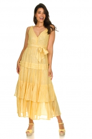 Sundress :  Lurex maxi dress Calypso | yellow - img4