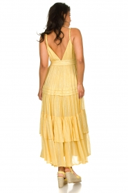 Sundress :  Lurex maxi dress Calypso | yellow - img6