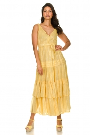 Sundress :  Lurex maxi dress Calypso | yellow - img3