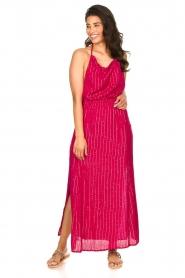 Sundress |  Lurex sequin dress Lauriana | pink  | Picture 4