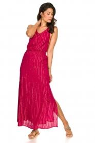 Sundress |  Lurex sequin dress Lauriana | pink  | Picture 3