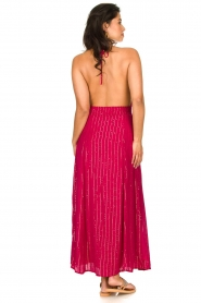 Sundress |  Lurex sequin dress Lauriana | pink  | Picture 6