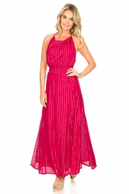 Sundress |  Lurex sequin dress Lauriana | pink  | Picture 3