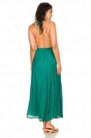 Sundress |  Lurex sequin dress Lauriana | green  | Picture 5
