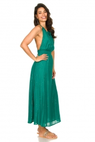 Sundress |  Lurex sequin dress Lauriana | green  | Picture 4