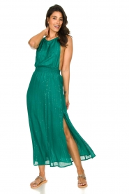 Sundress |  Lurex sequin dress Lauriana | green  | Picture 3
