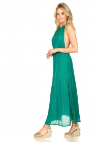 Sundress |  Lurex sequin dress Lauriana | green  | Picture 5