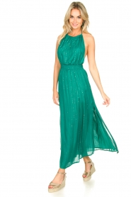 Sundress |  Lurex sequin dress Lauriana | green  | Picture 2