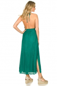 Sundress |  Lurex sequin dress Lauriana | green  | Picture 7