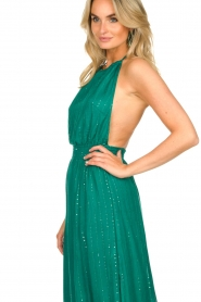 Sundress |  Lurex sequin dress Lauriana | green  | Picture 6