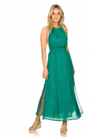 Sundress |  Lurex sequin dress Lauriana | green  | Picture 4