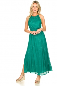 Sundress |  Lurex sequin dress Lauriana | green  | Picture 3