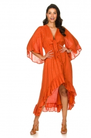 Sundress    Maxi dress with sequins Juliana   orange    Picture 2